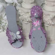 TODDLER GIRLS GIFTS!!!!!!!!!!!!!!!!!  These adorable glitter and rhinestone butterfly shoes make a perfect gift for your little princess - ONLY 3 AVAILABLE - Red and gold - Pink and silver - Purple and silver   by AVCustomDesigns $25.00 each