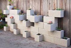 Cinder Block Succulent Outdoor Planter