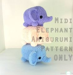PATTERN: Midi Elephant Amigurumi Plush instant von jennybeartm