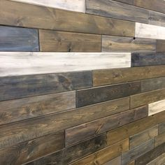 Come by the shop and check out our tongue & groove pine feature wall. We used a variety of Saman stains to create a weathered look. We'd love to show you how to do it yourself! #yeg #featurewall #samanstains