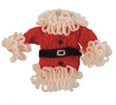Wool Santa Coat Ornament - Wild Woolies (H) Holiday Crafts For Kids, Kids Christmas, Handmade Ornaments, Holiday Ornaments, Holiday Decor, Online Masters Degree, Business Management, Fair Trade, Winter Hats