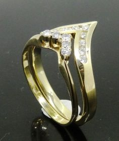 Peter Kumskov My Own Jeweller Direct hand crafted this stylish fitted Chevron shaped Diamond Eternity Ring perfectly matched to the lovely lady's existing Wedding Ring. http://jewellerdirect.com.au/image/data/Gallery/Diamond%20rings/Fitted-Chevron-shaped-Diamond-Eternity-Ring-web.jpg