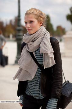 Le gros foulard - à l'européenne ;)