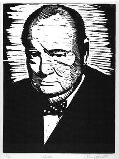 ARTFINDER: Winston by John Garrett - 50 years since his death but many people, including youngsters, remember Sir Winston Churchill as a true statesman.  Often seen in shades of grey, this pictu...