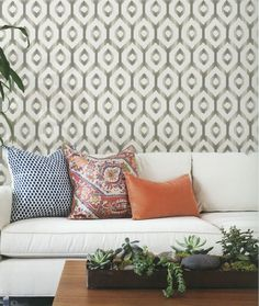 SOLSTICE Fine Decor Wallpaper - a relaxed and informal geometric design wallpaper available from S & A Supplies #homedecor #geometric #boho #wallpaper