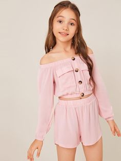Teenage Girl Outfits, Girls Fashion Clothes, Kids Outfits Girls, Cute Girl Outfits, Tween Fashion, Cute Outfits For Kids, Teen Fashion Outfits, Teenager Outfits, Casual Summer Outfits