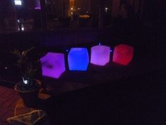 LED Furniture - Inflatable LED Cube Chair - PARTY SUPPLIES Wedding Decorations and Party Decorations Fast delivery
