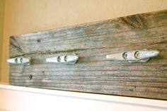 Reclaimed Wood Coat Rack/ Towel Rack With Boat Cleats