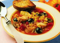 Something different for Shabbat this week? Fish Soup Provencal (sub. parve chicken stock for fish stock; just as good.)