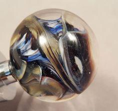 Wine Bottle Stopper, Hand Blown Glass, Storm Chaser by AspenHotGlass on Etsy