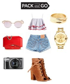 #mexicocity by bonitachikis on Polyvore featuring polyvore, fashion, style, Levi's, Gianvito Rossi, Givenchy, Movado, Repossi, Le Specs and clothing