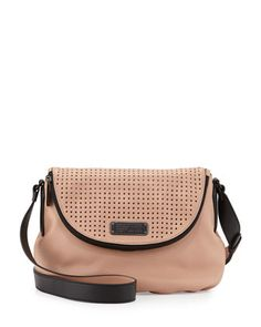 New+Q+Natasha+Perfrorated+Crossbody+Bag,+Dark+Buff+by+MARC+by+Marc+Jacobs+at+Neiman+Marcus.