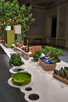 'Islands' installation by Raw Edges for Caesarstone, now at the Milan Design Week - Palazzo Clerici, Milan