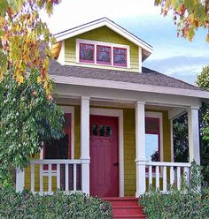 I love this little house plan! You can find it at tumbleweed tiny homes. The paint colors are happy.
