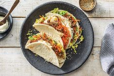 Asian-Style Beef & Chopped Salad Tacos