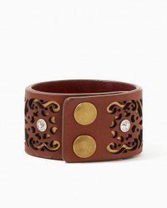 Leather Cut Out Bracelet