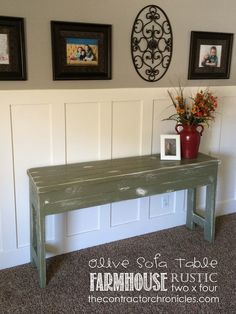 New shabby chic sofa table cozy living Ideas Diy Furniture Projects, Furniture Making, Home Projects, Home Crafts, Home Furniture, Diy Home Decor, Diy Crafts, Coaster Furniture, Farmhouse Furniture