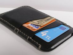 iPhone 5 Leather Sleeve,iPhone Wallet ,Samsung S4/S3 Wallet (Black) and gift