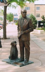 Gerald Ford - Thirty-Eighth President of the United States (1974-1977)  Corner of 7th St. & Saint Joseph St.