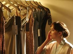 Time to Get Glam from Fifty Shades Darker: Sneak Peek  Anastasia Steele (Dakota Johnson) gazes at a display of gorgeous gowns. Which one should she pick?