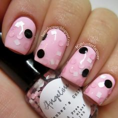 That top coat is the cutest thing ever, with those big black circles! I want it. Adorable color combo.