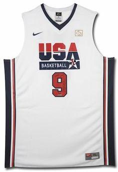 MICHAEL JORDAN Signed Team USA Retro Jersey w  HOF Inscription UDA LE 109  Basketball Shirts 5d2e3aa0a
