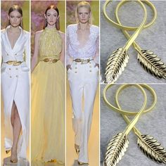 Online Cheap Hot Sale! Fashionable Women Belts Gold And Sliver Color Metal Leaves Elastic Waist Dress In Stock Strap Waistband Fast Shipping By Beautyu | Dhgate.Com