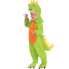 Super Mario Brothers Green Yoshi Costume Dinosaur for Toddler Boys Size 3-4T