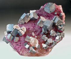Galena,-Calcite,-Fluorite