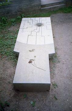 Carlo Scarpa's grave. Tomba Brion Cemetery. San Vito d'Altivole, Italy. 1969-78. Carlo Scarpa