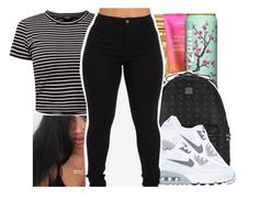 """""""She got money and she pretty bad"""" by pinksemia ❤ liked on Polyvore featuring MCM and NIKE"""