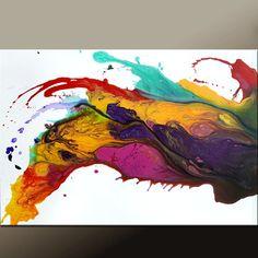 Abstrakte Malerei Leinwand Leinwand 36 x 24 moderne von wostudios ...