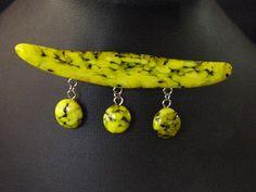 Lemon Asian Brooch Fused Glass Art, My Glass, Lemon, Brooch, Asian, Drop Earrings, Jewelry, Ideas, Jewlery