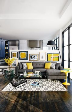 Yellow And Grey Living Room. Beautiful decorating with amazing furniture  Nice Home Decor Grey and yellow colour schemes Living room grey rooms