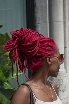 Stylish colored #dreadlocks #naturalhairstyle.  Loved by Neno Natural