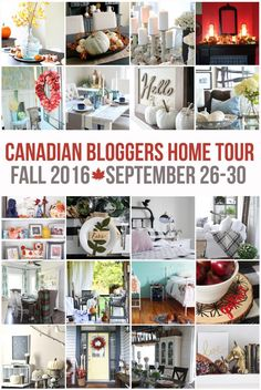 Canadian Fall Home Tour