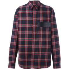 Givenchy plaid print shirt ($499) ❤ liked on Polyvore featuring men's fashion, men's clothing, men's shirts, men's casual shirts, red, mens plaid shirts, mens long sleeve shirts, mens long sleeve collared shirts, mens collared shirts and mens longsleeve shirts