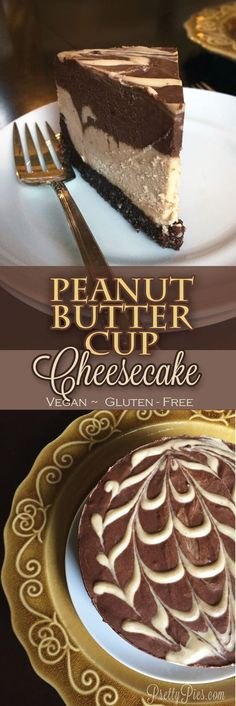 Peanut Butter Cup Cheesecake {Vegan, GF} All the flavors and deliciousness of Reese's in a dairy-free cheesecake! Peanut Butter Cup Cheesecake {Vegan, GF} All the flavors and deliciousness of Reese's in a dairy-free cheesecake! Peanut Butter Cup Cheesecake, Vegan Cheesecake, Cheesecake Recipes, Dessert Recipes, Gluten And Dairy Free Cheesecake Recipe, Dinner Recipes, Cheesecake Cake, Strawberry Cheesecake, Dessert Ideas