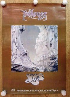 Original promo poster for the Yes album Relayer from 1974. 16.5 x 23.5 inches on thin glossy paper. Light handling marks and edge wear.