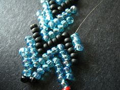 Triple and Quadruple St. Petersburg Chain - how to hook chains together for wider cuffs ~ Seed Bead Tutorials
