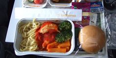 Typical airplane meal on 15 airlines
