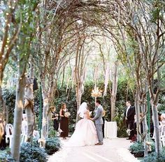 Enchanted Forest Wedding. Magical! I love that it's a little rustic, but very formal