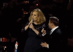 When she flipped off the Brit Awards for cutting off her acceptance speech. | 22 Times Adele Was Actually Fucking Hilarious