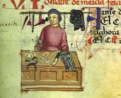 Arte de' merciai, ferraiuoli e armaioli, MS Ricc. 2526 (Libro delle Gabelle), c. 7r, 1360-1370 c. (Firenze); Biblioteca Riccardiana, Firenze, Italia