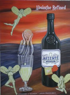 "Absente Absinthe Poster Homage A Munch ""The Scream"" | eBay"