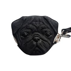 Bull Dog Purse Bag :- Ideal Gift, Loved by Kids or Pet lovers alike, Detachable wrist band. Strong metal zip.