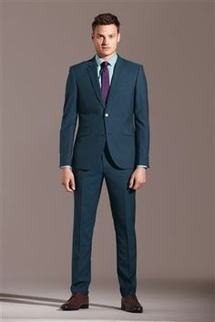 Buy Stone Cotton Linen Mix Slim Fit Suit: Jacket from the Next UK ...