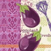 Kitchen Brights Veg Eggplant by Jennifer Brinley Cafe Pictures, Food Doodles, Veggie Patch, Decoupage Paper, Kitchen Wall Art, Food Illustrations, Recipe Cards, Fruits And Vegetables, Clipart
