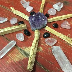 New crystal grid with sacred geometry Palo santo ,... - The7directions