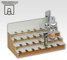 Oil Paints Module has twenty eight holes for paint in tubes. Please Note - The Module can be used only in the top row of the Modular Workshop System. The Module to connect with other products of Modular Workshop System. D imensions : 30cm x 15cm x 15 cm Main feature: 28 x 15mm handle ( diameter between cap and tube) Use the supplied magnets to connect with other modules. You can always change the configuration of modules according to...